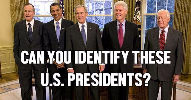 Can You Identify These U.S. Presidents?