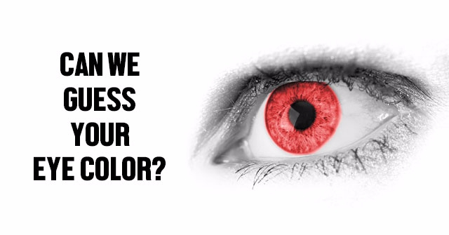 Can We Guess Your Eye Color?