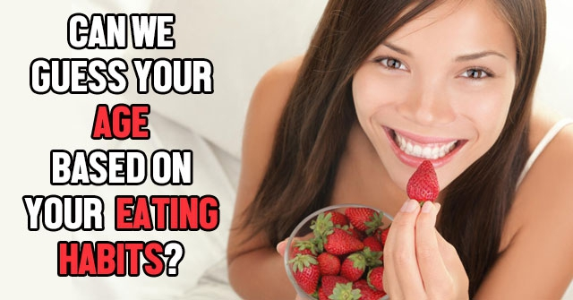 Can We Guess Your Age Based On Your Eating Habits?