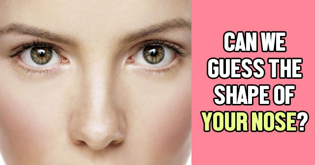 Can We Guess The Shape Of Your Nose?