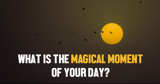 What Is The Magical Moment Of Your Day?