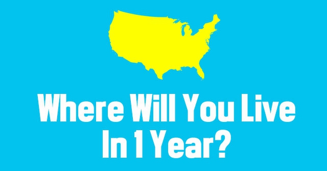 Where Will You Live In 1 Year?