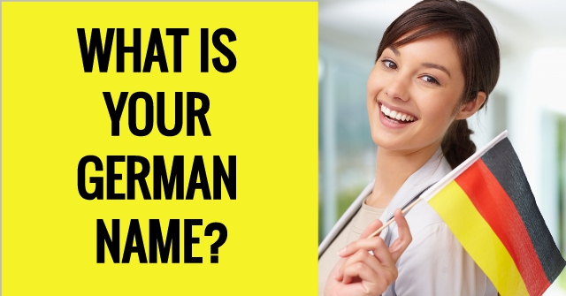 What Is Your German Name?