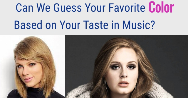Can We Guess Your Favorite Color Based on Your Taste in Music?