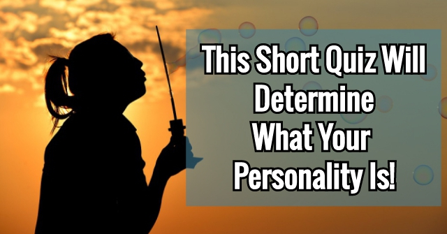 This Short Quiz Will Determine What Your Personality Is!