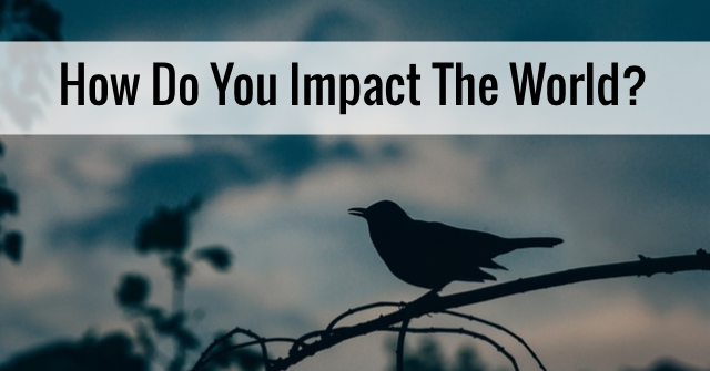 How Do You Impact The World?