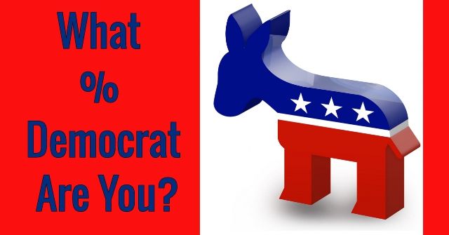What % Democrat Are You?