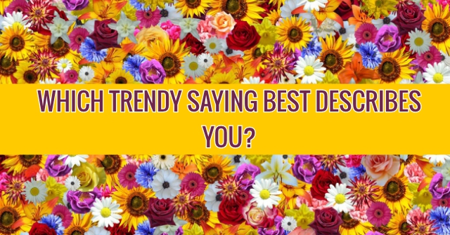 Which Trendy Saying Best Describes You?