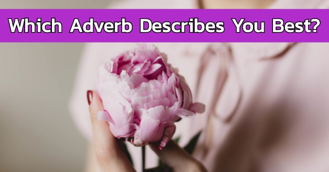 Which Adverb Describes You Best?