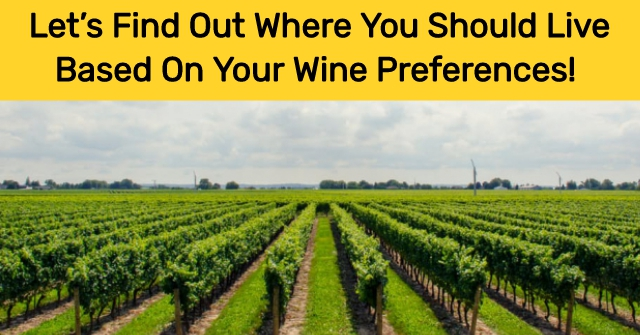 Let's Find Out Where You Should Live Based On Your Wine Preferences!