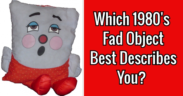Which 1980's Fad Object Best Describes You?