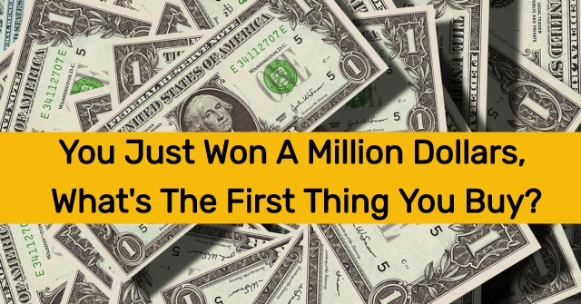 You Just Won A Million Dollars, What's The First Thing You Buy?