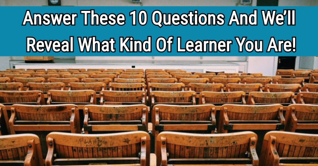 Answer These 10 Questions And We'll Reveal What Kind Of Learner You Are!
