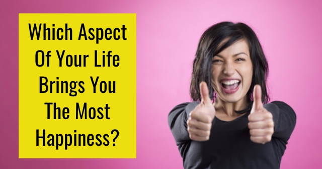 Which Aspect Of Your Life Brings You The Most Happiness?