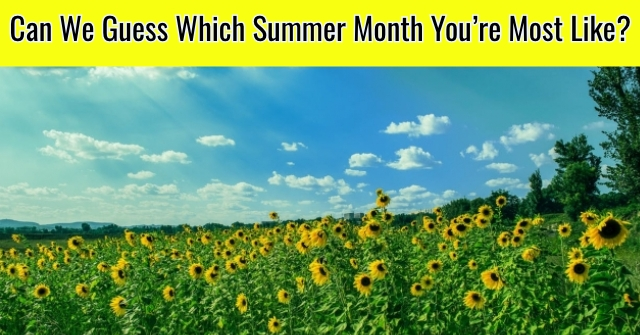 Can We Guess Which Summer Month You're Most Like?