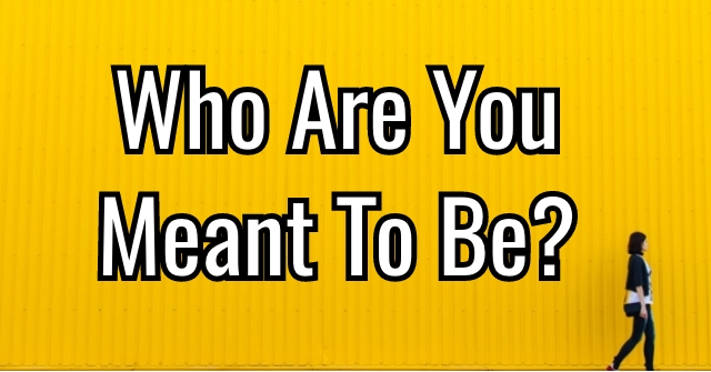 Who Are You Meant To Be?