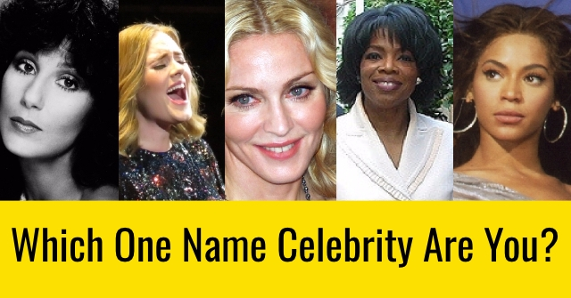 Which One Name Celebrity Are You?