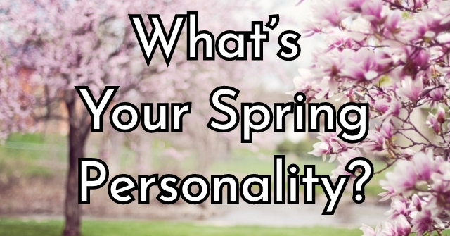 What's Your Spring Personality?