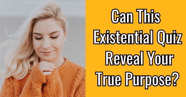Can This Existential Quiz Reveal Your True Purpose?