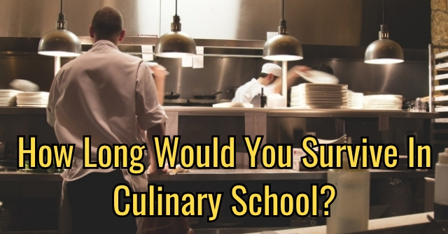 How Long Would You Survive In Culinary School?
